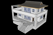I will draw a 3D model of the building, the object of the territory 5 - kwork.com