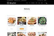 PSD шаблон Style of food для кафе или ресторана 7 - kwork.ru