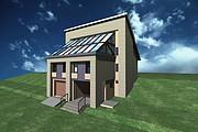 I will draw a 3D model of the building, the object of the territory 7 - kwork.com