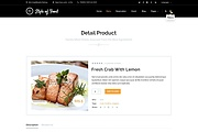 PSD шаблон Style of food для кафе или ресторана 8 - kwork.ru