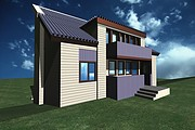 I will draw a 3D model of the building, the object of the territory 8 - kwork.com