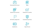 8 icons in any style 4 - kwork.com