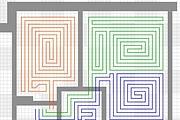 I make a plan of the layout for the pipe water floor heating 5 - kwork.com