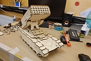 I will make a model of Russian military equipment. Material - plywood 6 - kwork.com