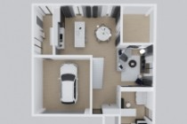We will create an architectural floor plan 3 - kwork.com