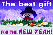 Banner design for the New Year for promotional post 5 - kwork.com