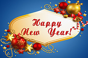 Banner design for the New Year for promotional post 6 - kwork.com