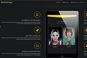 Premium WordPress Be One Page template 12 - kwork.com