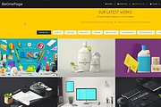 Premium WordPress Be One Page template 14 - kwork.com