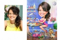 I will paint a watercolor caricature as a profile picture 6 - kwork.com