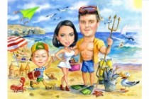 I will paint a watercolor caricature as a profile picture 8 - kwork.com